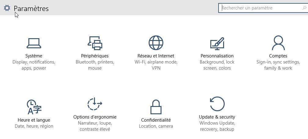 Windows 10 retrouver ses icones sur le bureau l2t - Comment faire apparaitre les icones sur le bureau ...